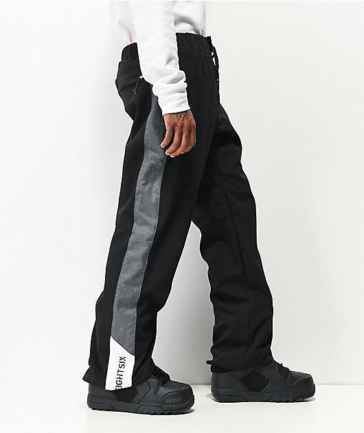 Waterproof Snowboard//Ski Pants Large 686 Men/'s Waterproof Track Winter Pant Black