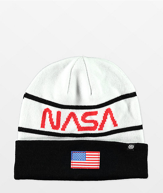 686 x NASA Black & White Beanie
