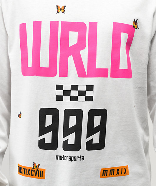 999 Club by Juice WRLD Conversation Motorsport White Long Sleeve T-Shirt