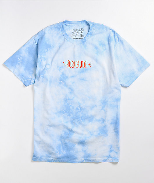 999 Club by Juice WRLD Tarot Blue & White Cloud Wash T-Shirt