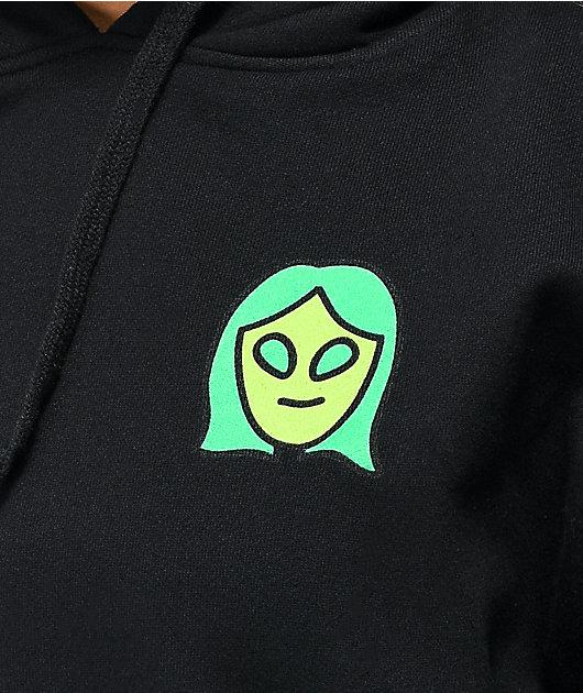 A-Lab Alien Dance Club sudadera con capucha negra