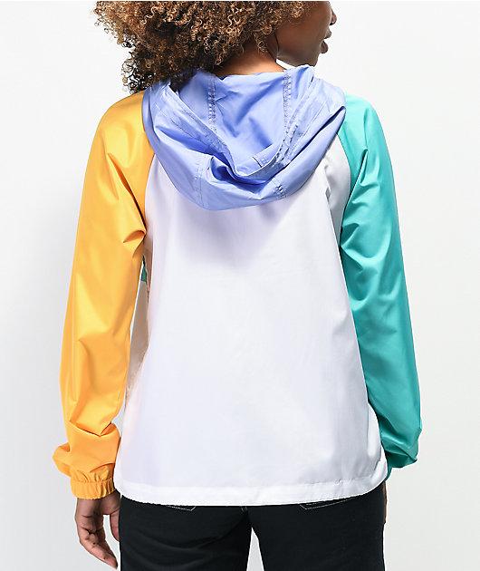 A-Lab Amadi chaqueta cortavientos morada, dorada y verde