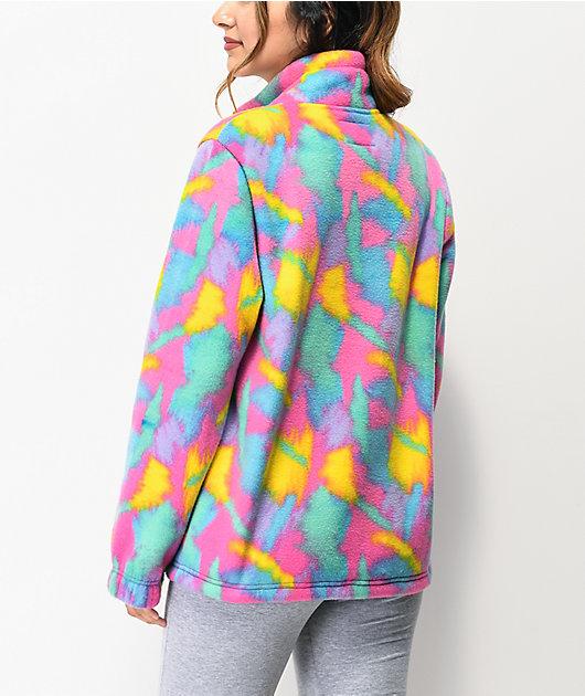 A-Lab Apres Multicolor Print Half Zip Tech Fleece Jacket