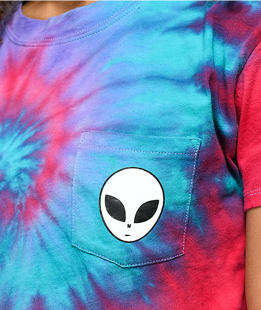 A-Lab Ballina Alien Pink & Purple Tie Dye Crop T-Shirt