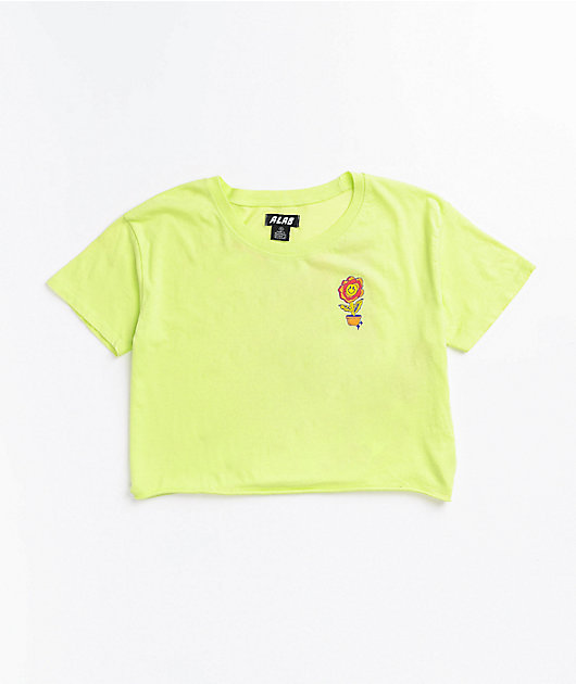 A-Lab Ballina Lime Crop T-Shirt