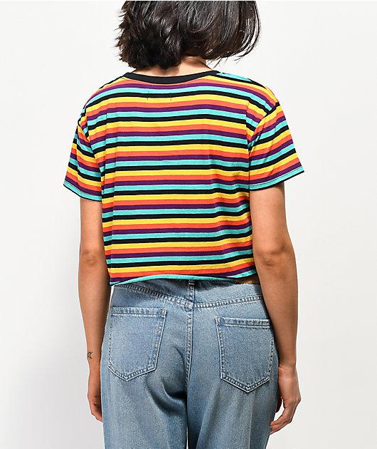 A-Lab Ballina Multicolor Stripe Crop T-Shirt