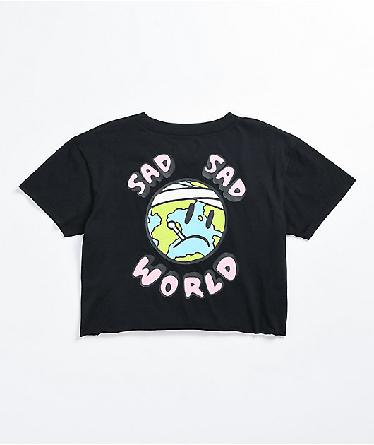 A-Lab Ballina Sad Sad World Black Crop T-Shirt