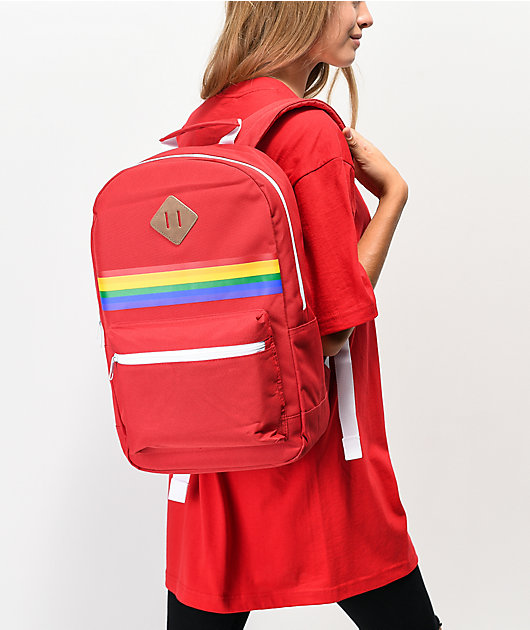 A-Lab Barbara Rainbow Red Backpack