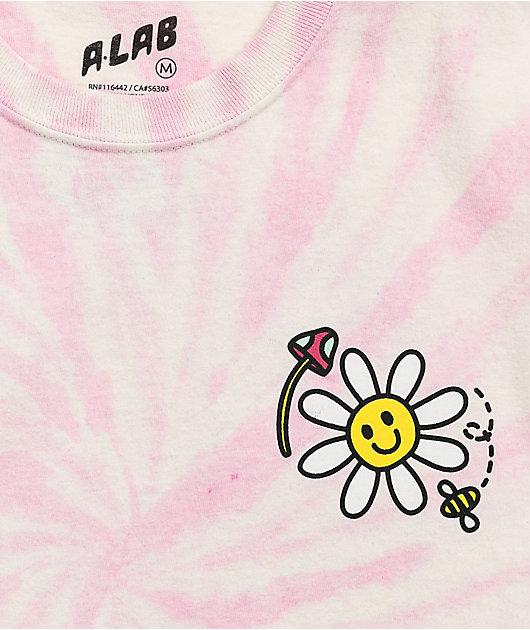 A-Lab Better Days Pink & White Tie Dye T-Shirt