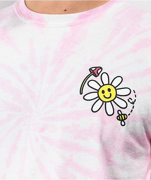 A-Lab Better Days Pink Tie Dye Long Sleeve T-Shirt