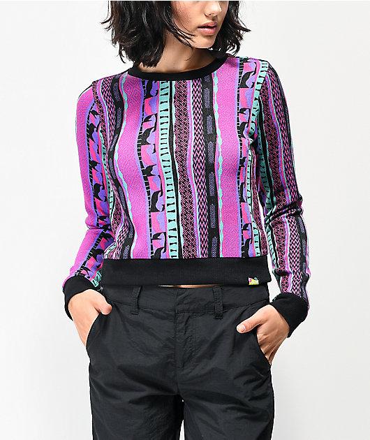 A-Lab Chodler Print suéter rosa y morado