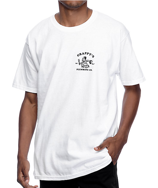 A-Lab Crappy's Plumbing White T-Shirt