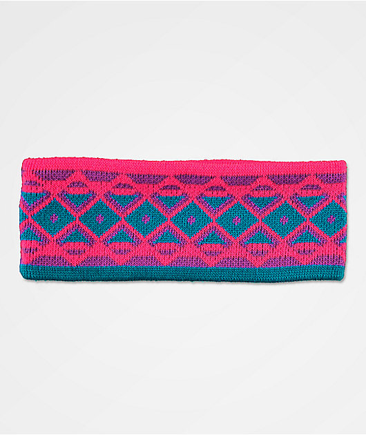 A-Lab Donna Purple & Pink Knit Headband