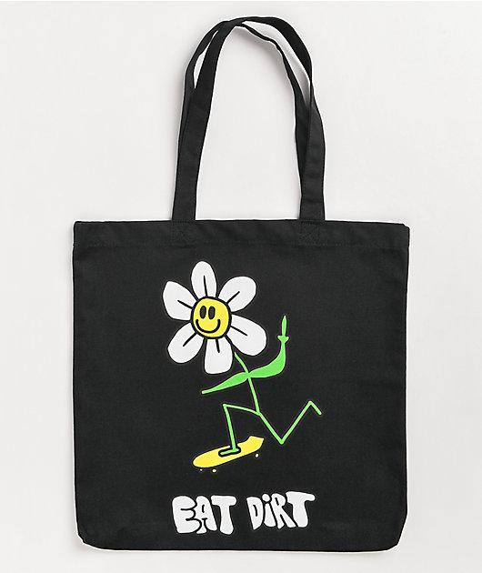 A-Lab Eat Dirt Black Tote Bag
