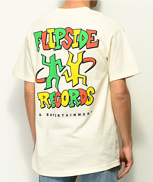 A-Lab Flipside Records Cream T-Shirt