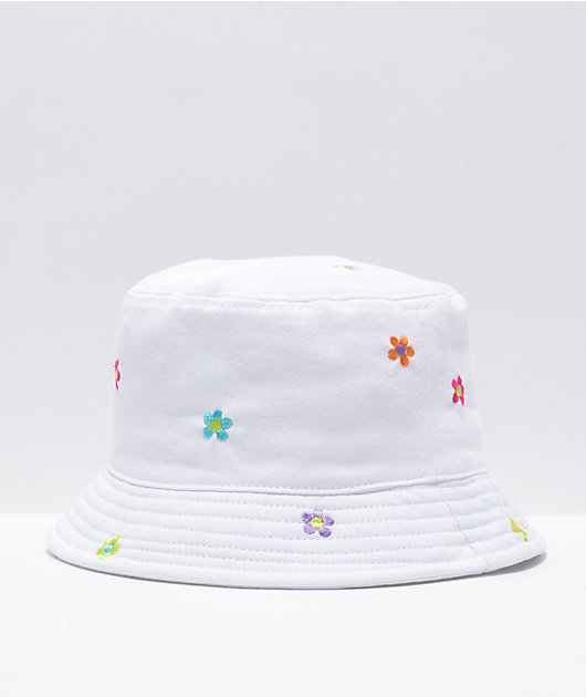 A-Lab Flower Embroidered Bucket Hat