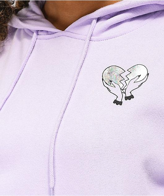 A-Lab Freela Heartbreakers sudadera con capucha lavanda