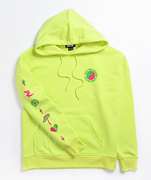 A-Lab Freela Yin Yang Lime Green Hoodie