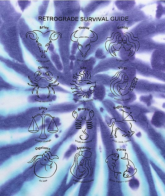 A-Lab Freela Zodiac Signs Purple & Blue Tie Dye Hoodie