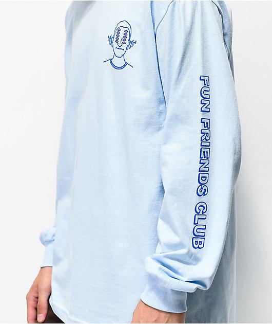 A-Lab Friends Club camiseta de manga larga azul claro