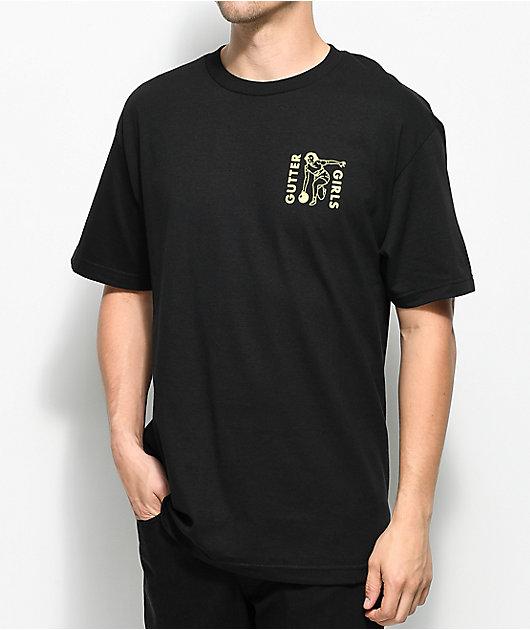 A-Lab Gutter Girls Bar Black T-Shirt