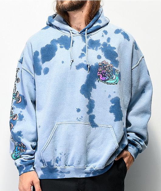 A-Lab Hippie Snail Blue Tie Dye Hoodie