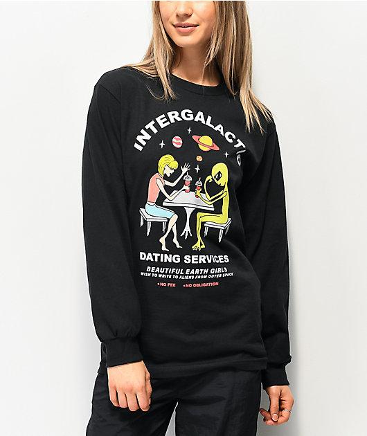 A-Lab Intergalactic camiseta negra de manga larga