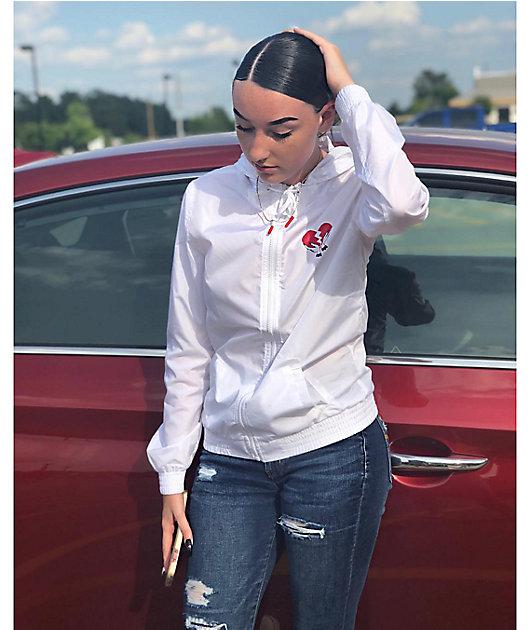 A-Lab Kenlie Heartbreaker White Windbreaker Jacket