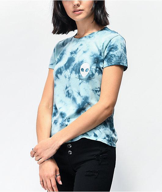 A-Lab Kito Light Blue Tie Dye Pocket T-Shirt