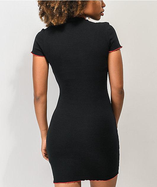 A-Lab Lexi Rose Black Dress