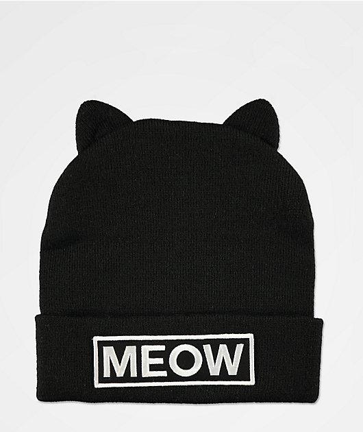 A-Lab Miss Meow Black Beanie