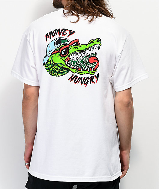 A-Lab Money Hungry White T-Shirt