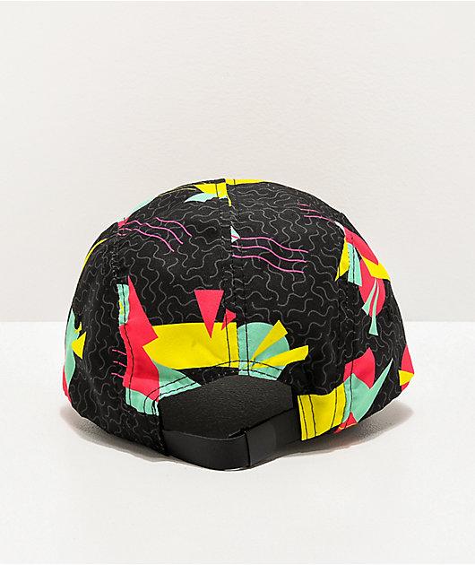 A-Lab Morrison Geometric Black 5 Panel Strapback Hat