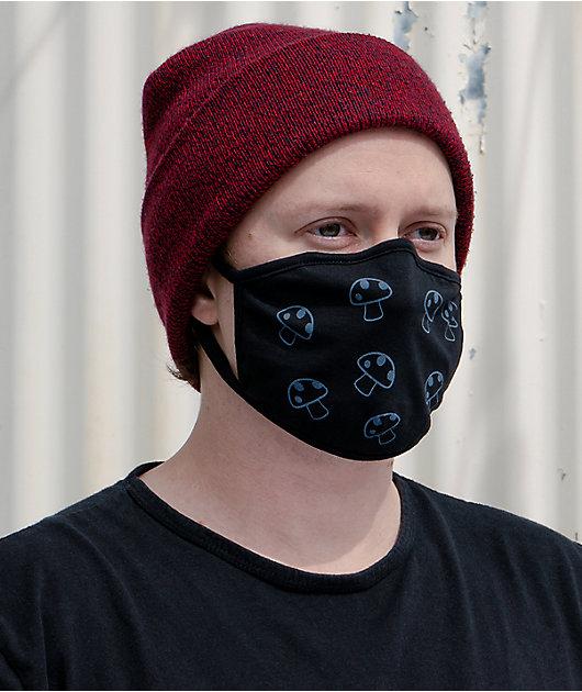 A-Lab Mushrooms Black Face Mask