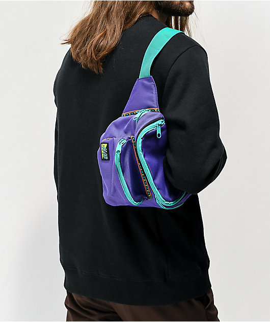 A-Lab Partypack Purple & Teal Fanny Pack