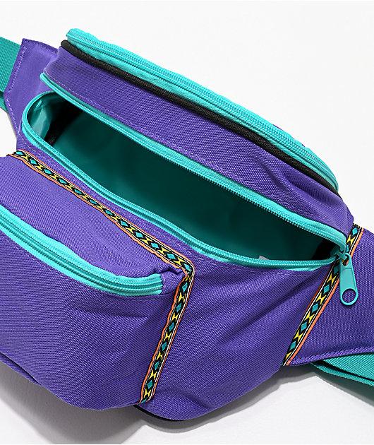 A-Lab Partypack riñonera morada y verde azulado