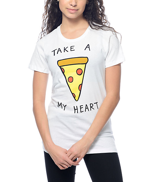 A-Lab Pizza My Heart White T-Shirt