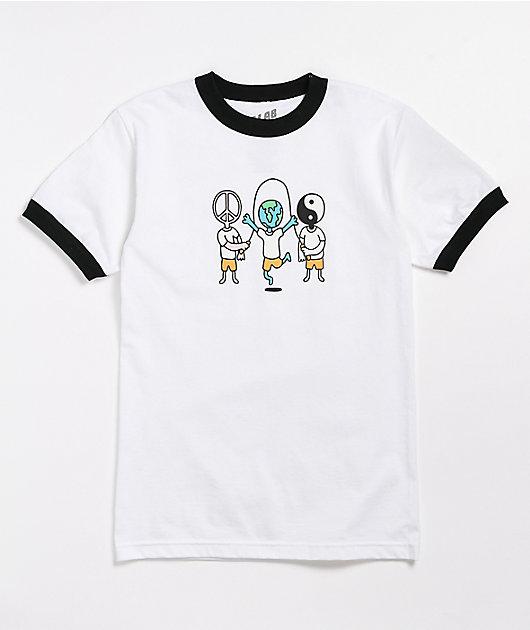 A-Lab Playground White & Black Ringer T-Shirt