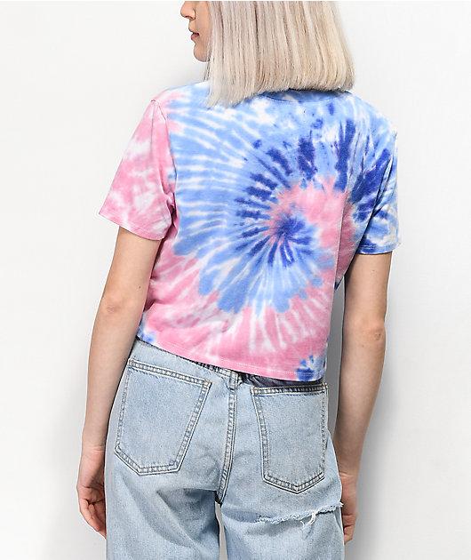 A-Lab Quinnie Pink & Blue Tie Dye T-Shirt