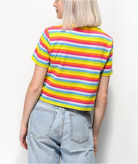 A-Lab Quinnie Pink & Yellow Stripe T-Shirt