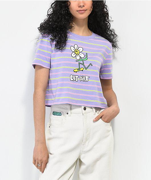 A-Lab Quinnie Purple Striped Tee
