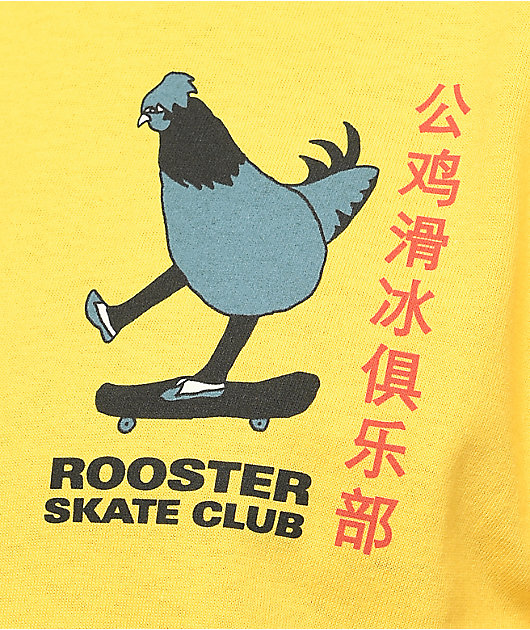 A-Lab Rooster Sk8 Club camiseta color amarillo