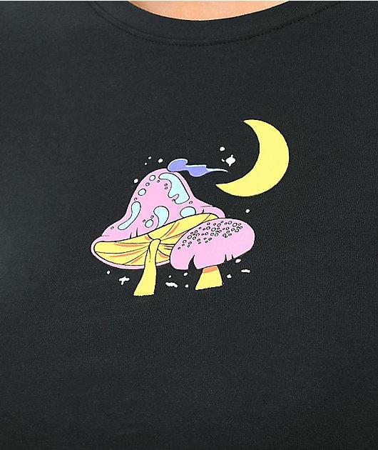 A-Lab Serina Mushroom Black Crop T-Shirt
