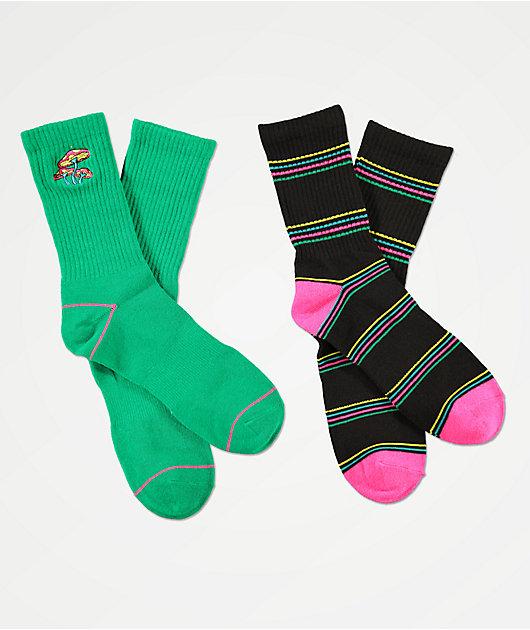A-Lab Shrooms 2 Pack Crew Socks