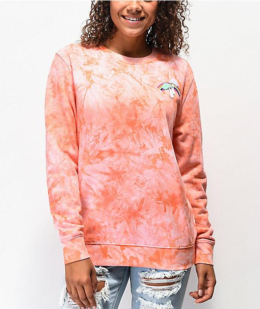 A-Lab Troost Mushroom Coral Crew Neck Sweatshirt