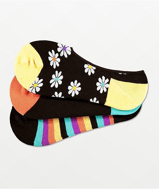A-Lab Winnie 3 Pack No Show Socks