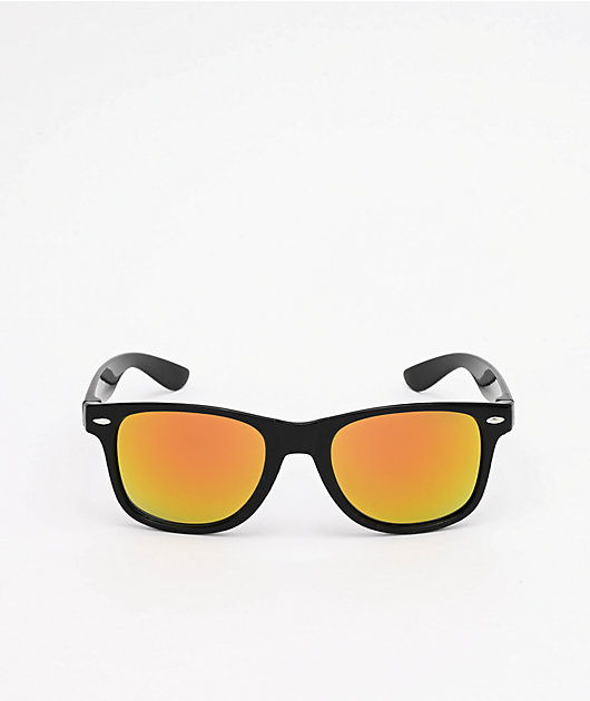 A Lost Cause Brushed Black & Orange Sunglasses