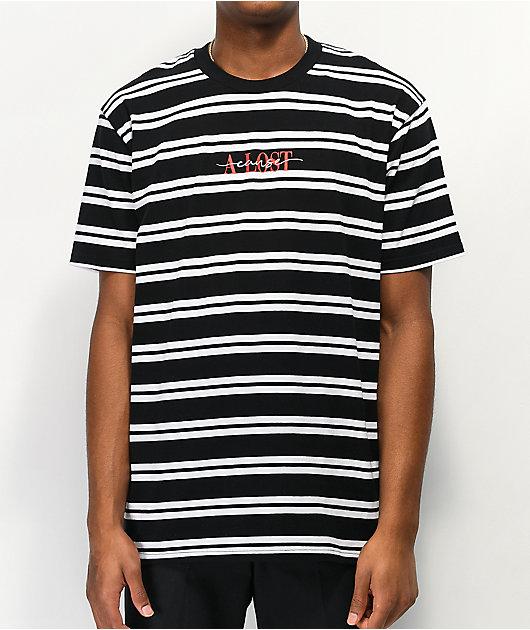 A Lost Cause En Vogue Stripe Black & White T-Shirt