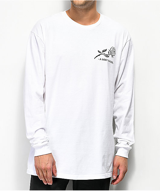 A Lost Cause Life To Death White Long Sleeve T-Shirt