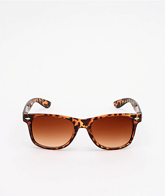 A Lost Cause Snapper Tortoise Brown & Smoke Sunglasses